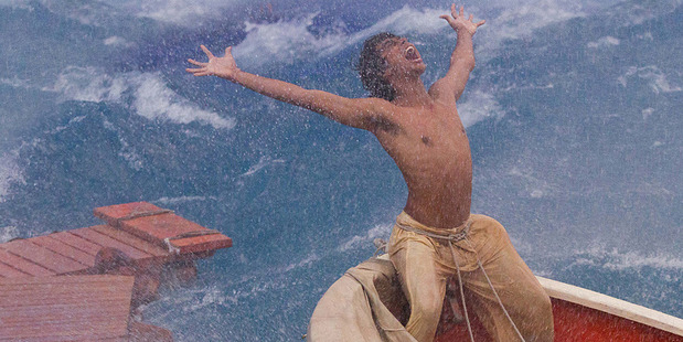 Loading Suraj Sharma in a scene from Life of Pi. Photo/supplied