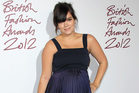 A pregnant Lily Allen at the British Fashion Awards in November. Photo/AP