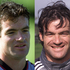 Ryan Nelsen back in the early days of his career, 2000, left, and 2002, right, when he first arrived on the international scene. Photos / Getty Images and Herald file