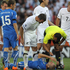 Nelsen gives Italy's Giorgio Chiellini a piece of his mind, during their Group F match at the 2010 World Cup. Photo / Brett Phibbs