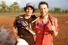 Hamish and Andy this week take a tour of their home country. Photo / TV3