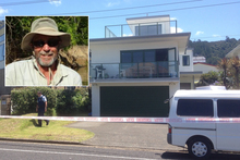 The Scene of the stabbing early on New Years day in Waihi (Insert: Robert Wilkinson). Photos / Christine Cornege/Supplied