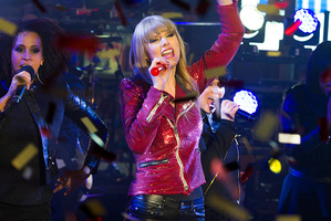 Taylor Swift performs in Time Square on New Year's Eve. Photo/AP
