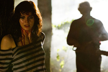 Alexandra Daddario, left, as Heather Miller in a scene from Texas Chainsaw 3D. Photo/AP