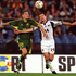 Nelson  competes with David Zdrilic of Australia during the Oceania Football Confederation World Cup play off game in 2001. Photo MattTurner/ALLSPORT 