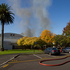 Smoke billows from the Epsom campus. Photo / Richard Robinson