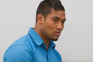 All Blacks wing Julian Savea in the dock. Photo / Mark Mitchell