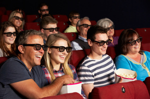 New glasses will make it easer for vision and hearing impared people to enjoy movies at the cinema. Photo / Thinkstock