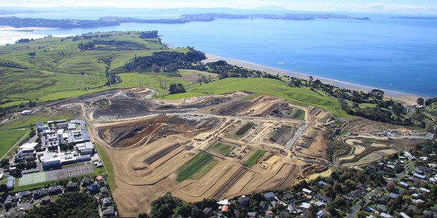 An aerial view of the Long Bay housing development, where work on 2000 new homes has just begun. Photo / supplied