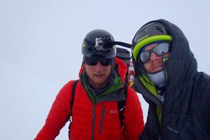Scott Scheele, left, with hero Ben Dare, right. Photo / Supplied