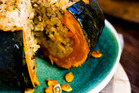 Recipe: Whole stuffed pumpkin with mushroom risotto