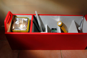 Make your own emergency supplies storage unit. Photo / Michael Craig