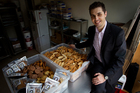 Andre Wike, owner and operator of Andre's Kitchen, produces gourmet biscuits and crostini. Photo / Sarah Ivey