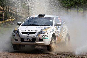 Kiwi driver Michael Young will contest the rest of the Asia Pacific Rally Championships for Toyota. Photo / Supplied