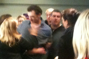 A cellphone photo of Kyle Mills at a Christchurch hotel where a fracas broke out. Photo / Supplied
