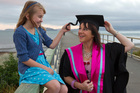 Sarah Bradley juggled her studies with looking after her daughter, Melinda, 9. Photo / Mark Mitchell
