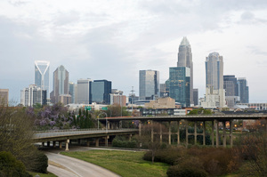 In Charlotte, California, expressways are built before any development occurs. Photo / Getty Images