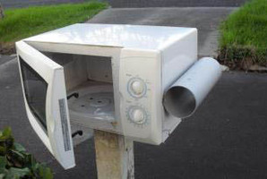Not part of the inorganic collection ... this letterbox was spotted in Grey Lynn by Reinaldo. Photo / Supplied