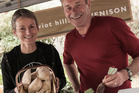 Jane from Cheviot Hills Venison and Grant Allen at Amberley Market Canterbury. Photo / Jason Burgess