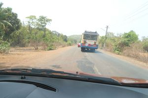 Drivers in India take a loose view of lanes and overtaking. Photo / Liz Dobson