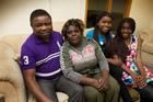 Kafeba Mundele, with his wife, Charlotte Ndala, and their daughters Ami, 13, and Monica, 15. Photo / Brett Phibbs