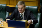 Finance Minister Bill English, after delivering his fifth Budget to Parliament today. Photo / Mark Mitchell