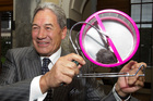 Winston Peters' spinning mouse emphasised his attack on the