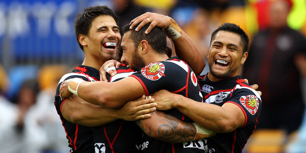 Watch and take part in our live blog from the NRL match between the Warriors and the Panthers from Centrebet Stadium in Penrith. Photo / Getty Images.