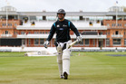 New Zealand batsman Ross Taylor prepares for a session in the nets yesterday at Lord's Cricket Ground. Photo / Getty Images