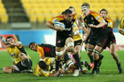 Liam Messam worked well with Tanerau Latimer on Friday. Photo / Getty Images