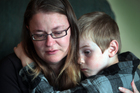 Tracy Hibberd and her son, Isaac, 6. Photo / Doug Sherring