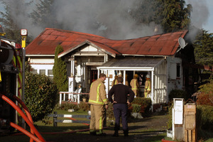 The scene of a fatal house fire in Rangataua. Photo / Supplied