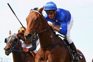 Happier days for the connections of More Joyous, shown here defeating King Mufhasa in the 2011 Futurity Stakes at Caulfield. Photo / Getty Images