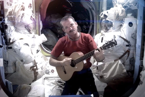 Astronaut Chris Hadfield singing from space. Photo / AP