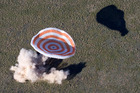 Nasa images show the Soyuz spacecraft as it land. Photo / AP