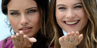 Victoria's Secret Angels Adriana Lima, left, and Behati Prinsloo.Photo / AP
