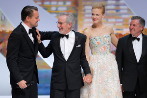 Leonardo DiCaprio, Steven Spielberg, Nicole Kidman and Daniel Auteuil attend the Cannes opening ceremony before The Great Gatsby screening. Photo / AP