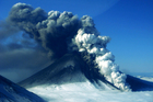 Huge ash plumes erupt from Alaska volcano
