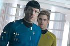 Zach Quinto and Chris Pine as Spock and Kirk in Star Trek Into Darkness. Photo / Supplied