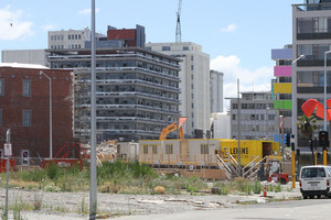 A major question mark over Govt accounts is the ever escalating cost of rebuilding Christchurch - some $2.1 billion more than anticipated in December. Photo / Geoff Sloan