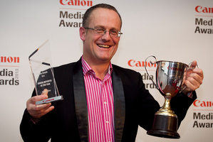 David Fisher, Senior Reporter of the Year. Photo / Natalie Slade