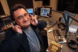 Kingi Biddle in his Radio Te Arawa studio. Photo / Ben Fraser