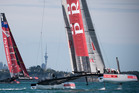 The AC72 catamarans, pictured in Auckland trials, have transformed the America's Cup into an extreme sport, says Luna Rossa syndicate owner Patrizio Bertelli. Photo / Greg Bowker