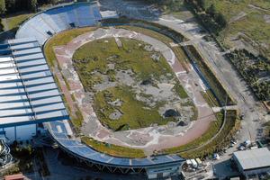 Abestos piping was found at the QEII Stadium demolition site. Photo / The Star