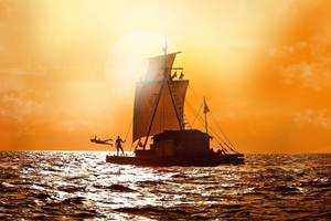 A scene from the film Kon-Tiki. Photo / Supplied