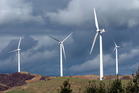 Meridian Energy's Te Apiti Wind Farm on the Ruahine Ranges between Woodville and Ashurst. Photo / NZPA