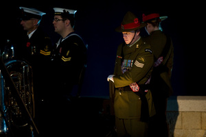 Part of the NZDF Contingent Support to Anzac Day Commemorations in Turkey. Photo / Judith Watts