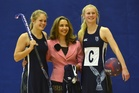 Tamsin Cooper with Phoebe Steele (left) and Analise Cowie. Photo / Peter McIntosh