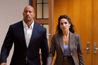Dwayne Johnson, here with Melina Kanakaredes, puts in an admirable performance as John Matthews in Snitch. Photo / Supplied