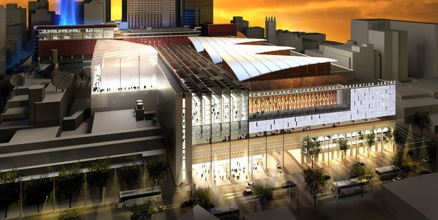 An artist's impression of the new convention centre in downtown Auckland. Image / supplied